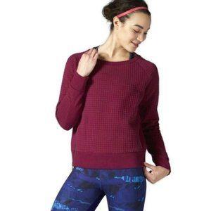 REEBOK | Quilted Sweatshirt | Magenta | Size L